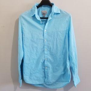 Le Chateau blue cotton dress shirt